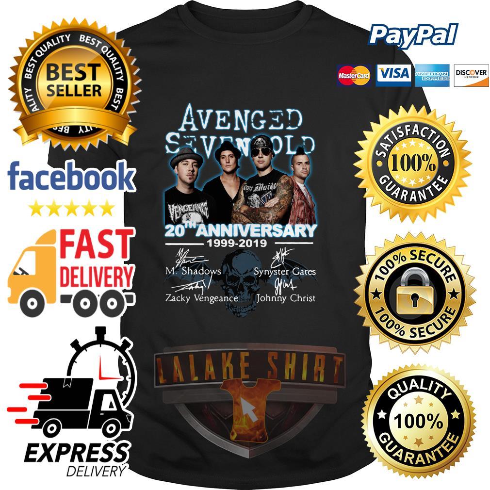 Avenged Sevenfold 20th anniversary 1999 2019 signature shirt