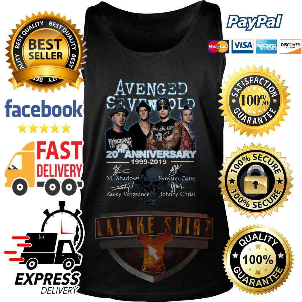 Avenged Sevenfold 20th anniversary 1999 2019 signature tank top
