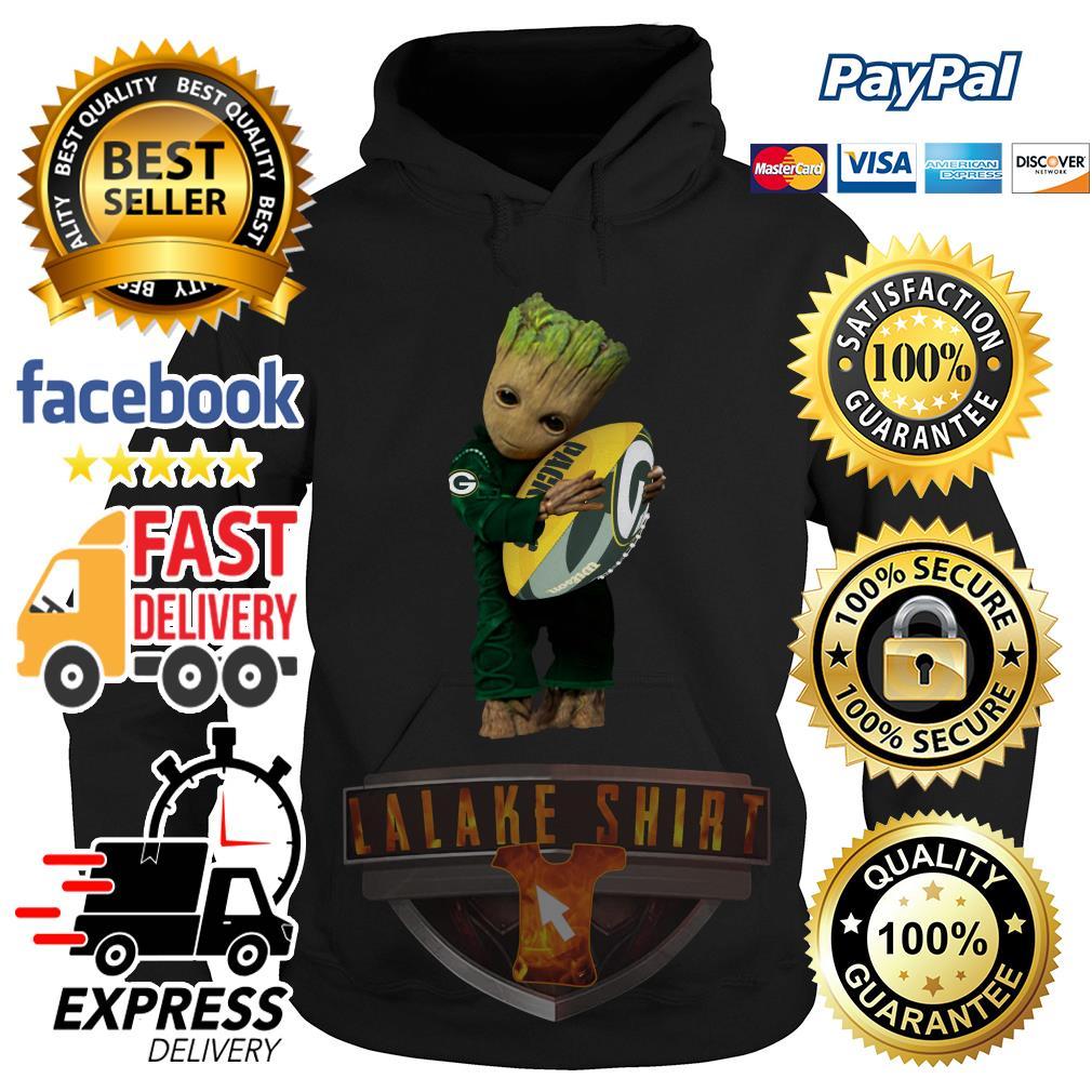 Baby Groot hug Green Bay Packers hoodie