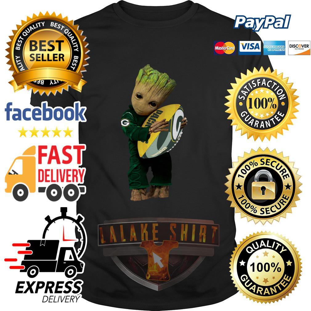 Baby Groot hug Green Bay Packers shirt
