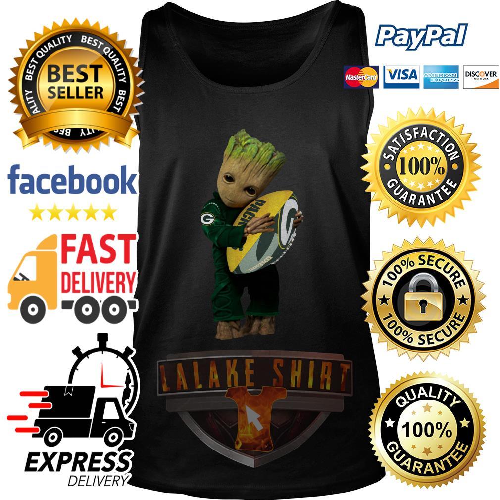 Baby Groot hug Green Bay Packers tank top