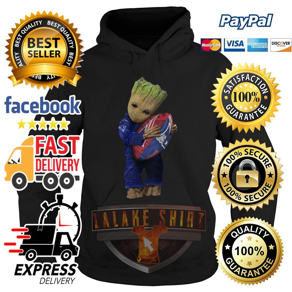 Baby Groot hug New England Patriots hoodie