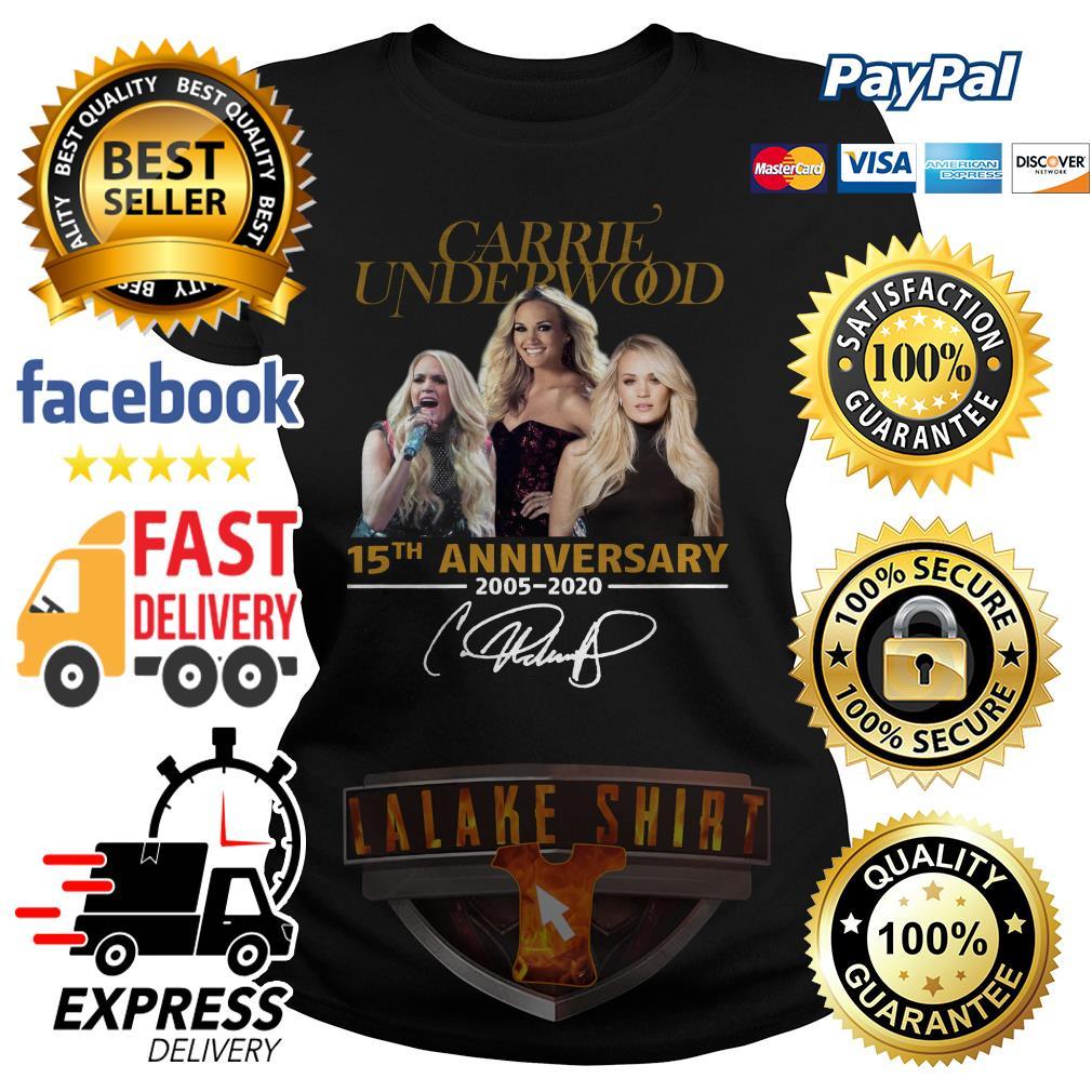 Carrie Underwood 15th anniversary 2005 2020 signature ladies tee