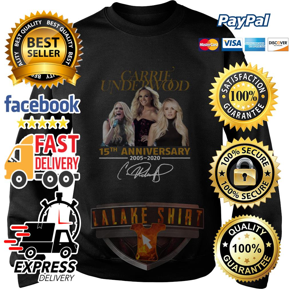 Carrie Underwood 15th anniversary 2005 2020 signature sweater