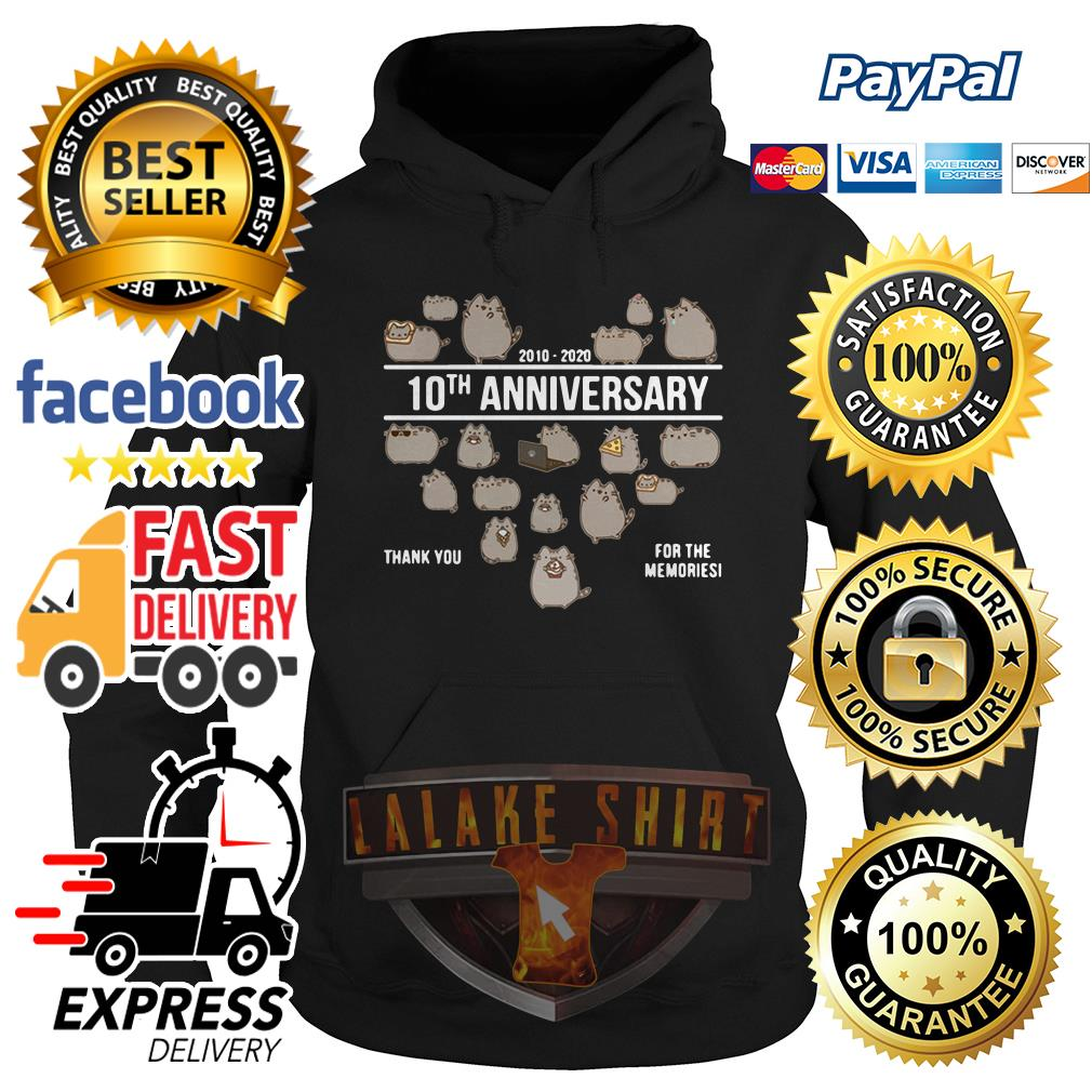 Cat 2010 2020 10th anniversary thank you for the memories hoodie