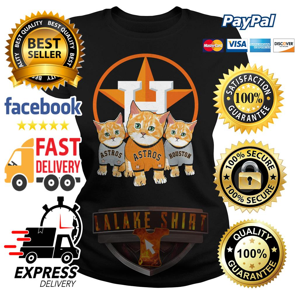 Cat Houston Astros ladies tee