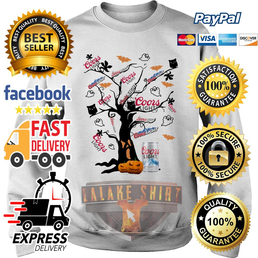 Coors Light beer tree Halloween shirt