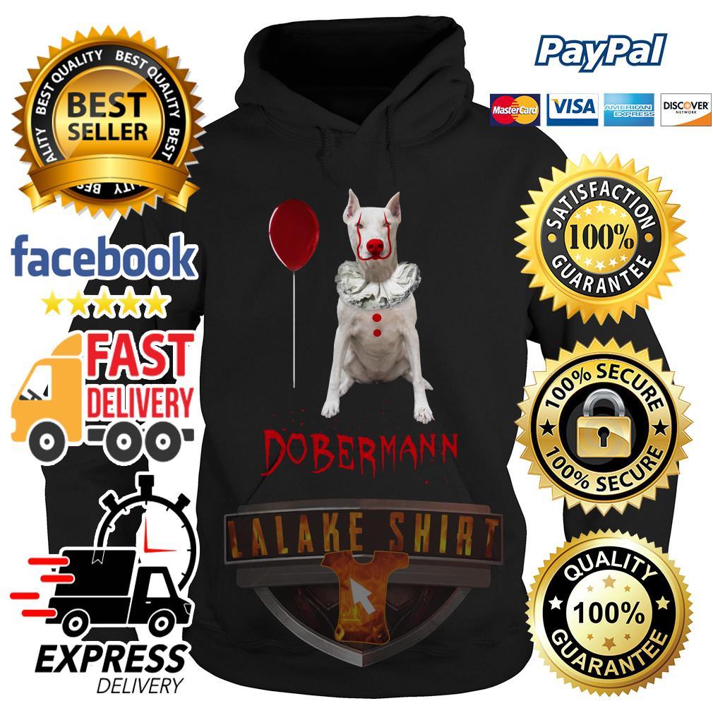 Dobermann Pennywise Halloween hoodie