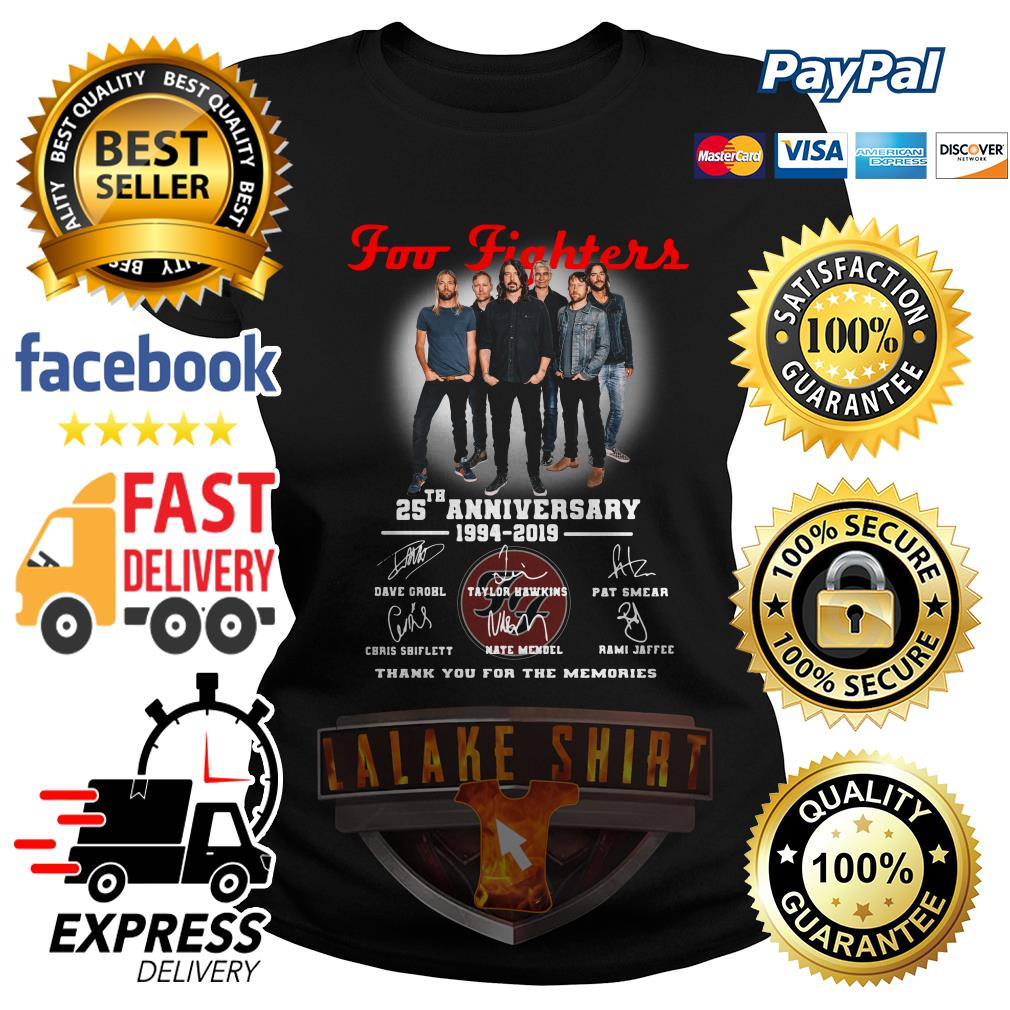 Foo Fighters 25th anniversary 1994 2019 thank you for the memories Ladies Tee