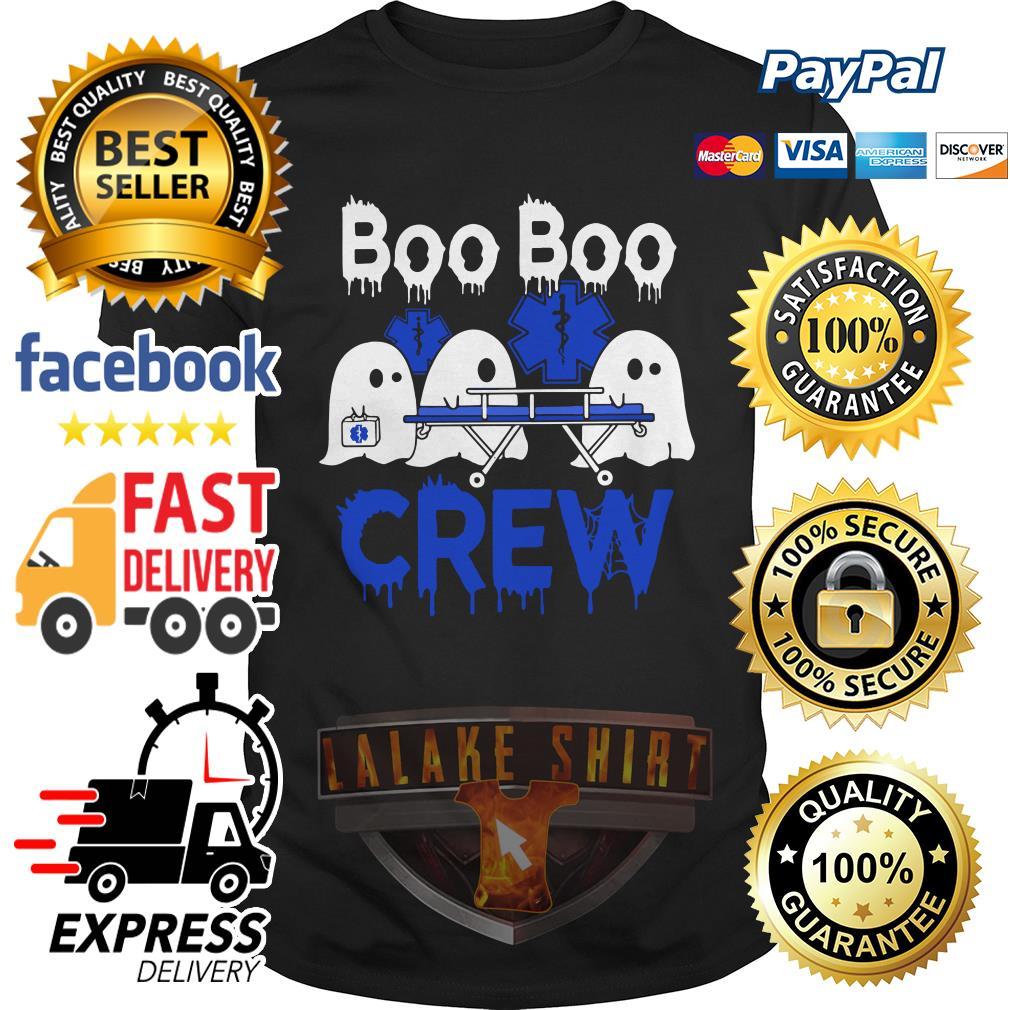 Ghost nurse boo boo crew shirt