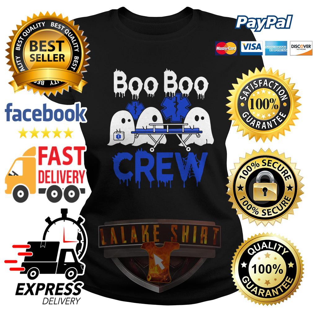 Ghost nurse boo boo crew ladies tee