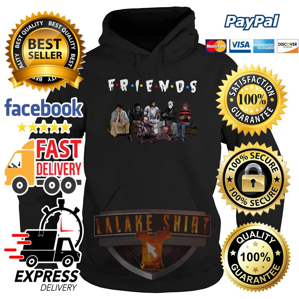 Halloween Friends TV Show horror movie characters and Jesus hoodie