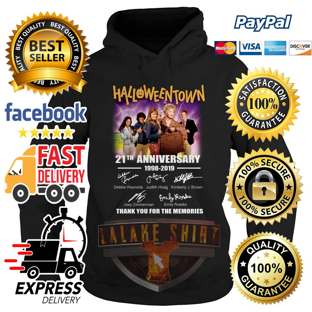 Halloween Town 21th anniversary 1998 2019 thank you for the memories hoodie