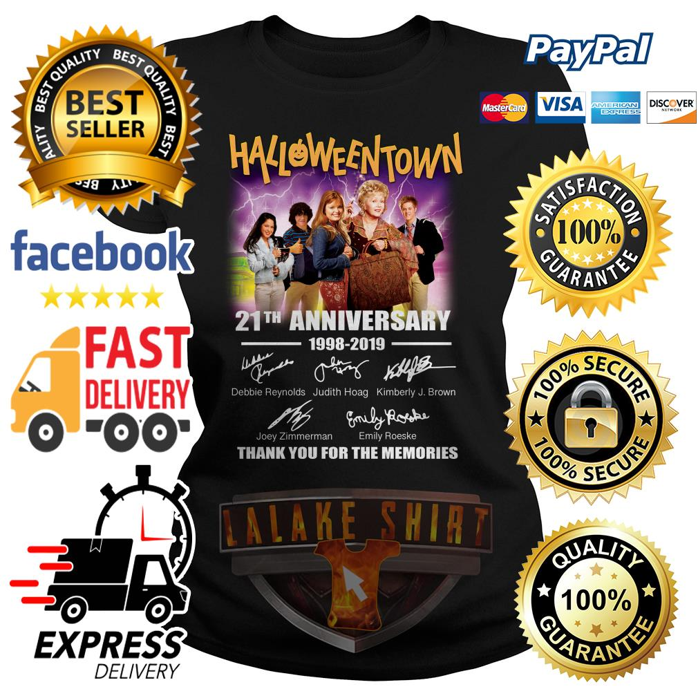 Halloween Town 21th anniversary 1998 2019 thank you for the memories ladies tee