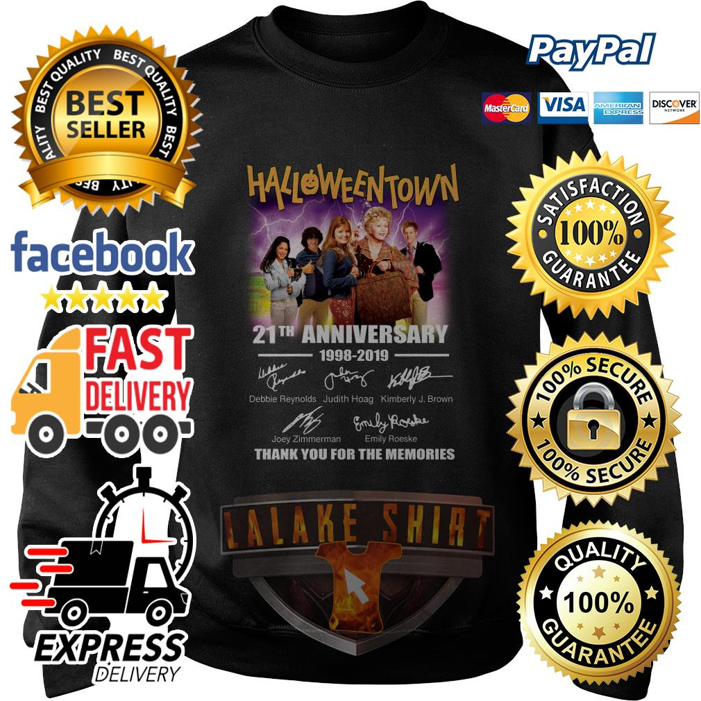 Halloween Town 21th anniversary 1998 2019 thank you for the memories sweater