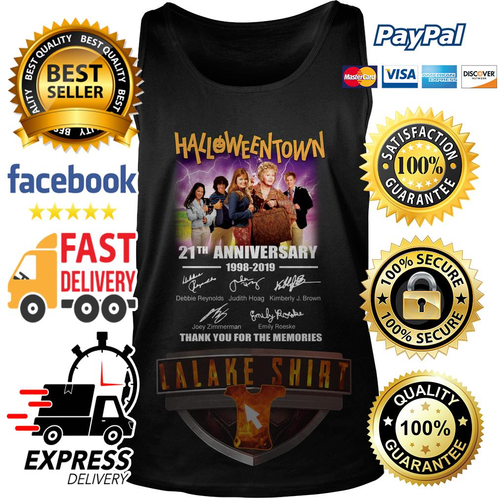 Halloween Town 21th anniversary 1998 2019 thank you for the memories tank top