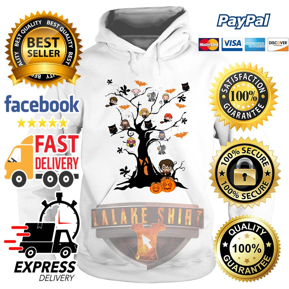 Harry Potter characters on the tree Halloween hoodie
