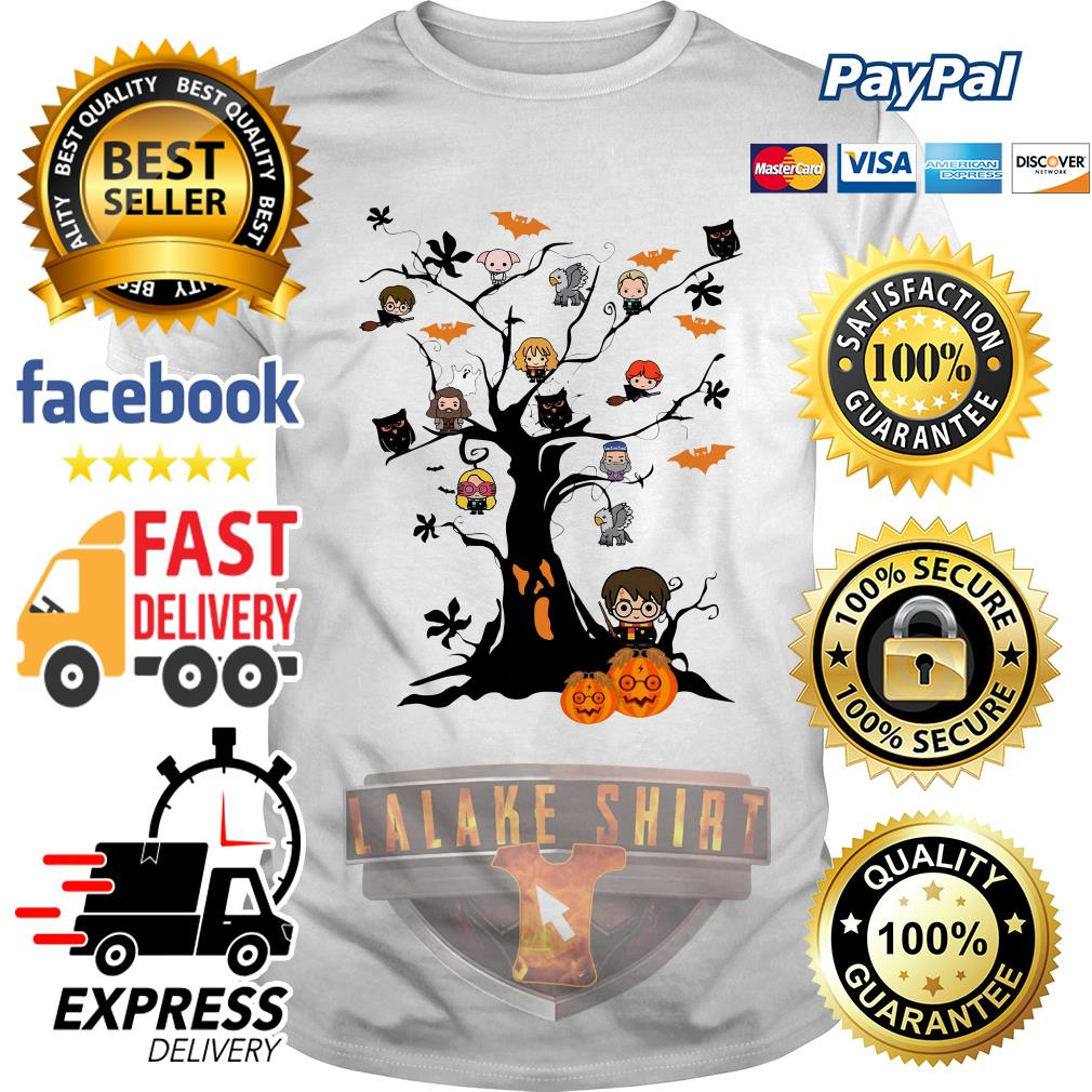 Harry Potter characters on the tree Halloween shirt