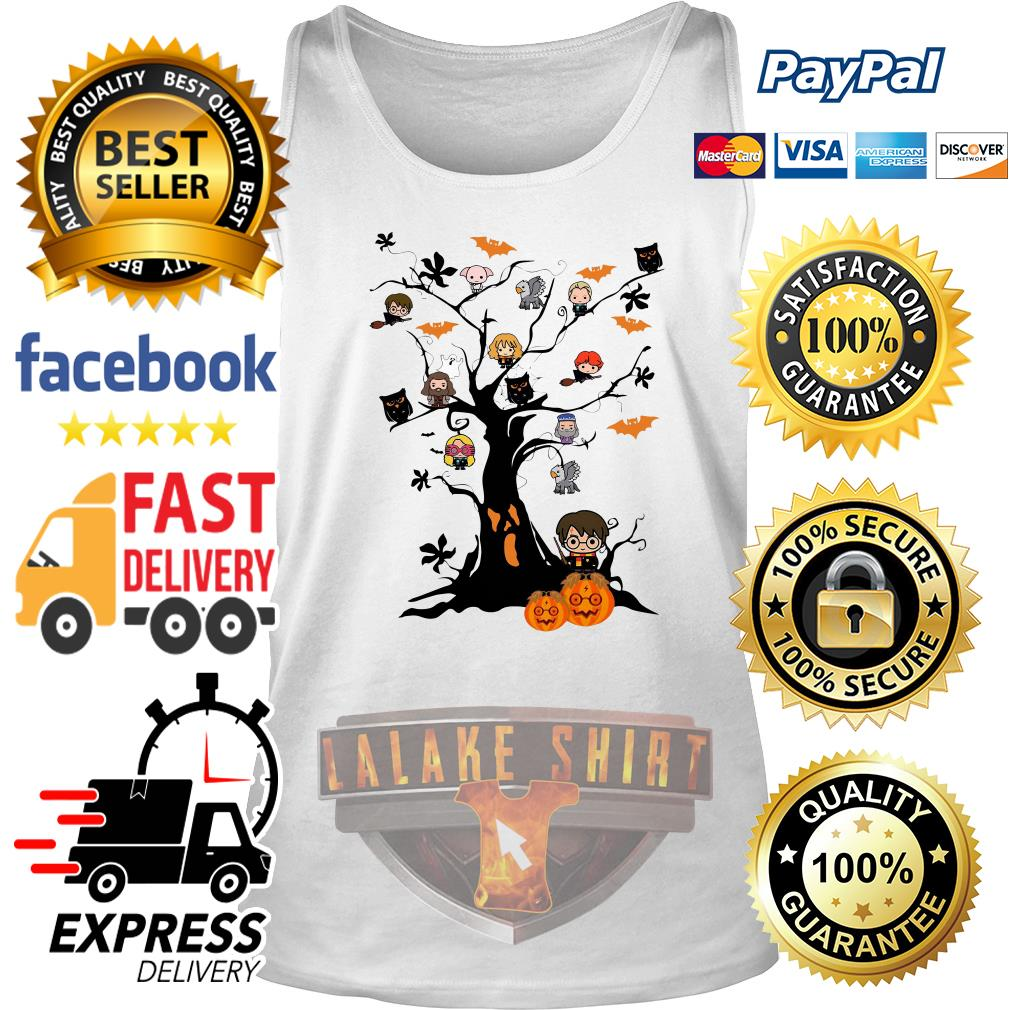 Harry Potter characters on the tree Halloween tank top