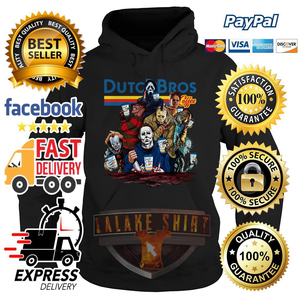 Horror Character movie Dutch Bros coffee hoodie
