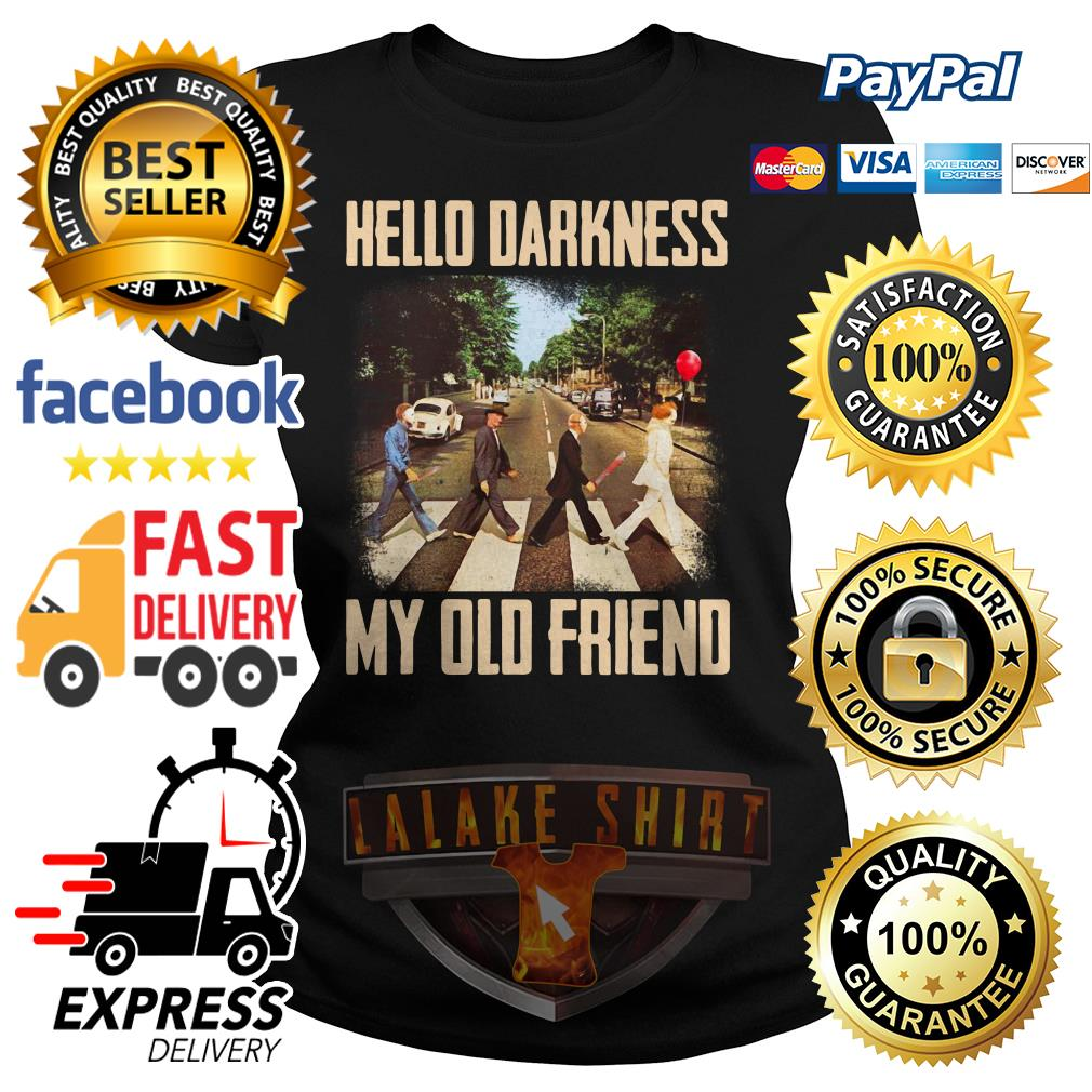 Horror character movie abbey road hello darkness my old friend ladies tee