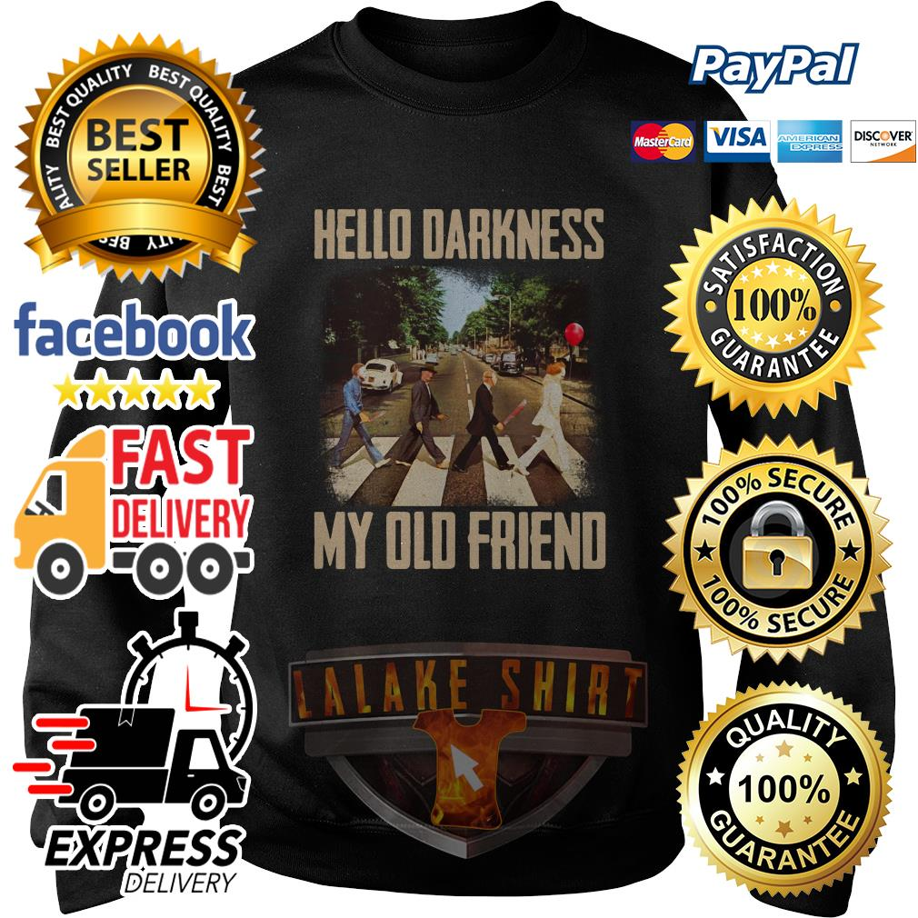 Horror character movie abbey road hello darkness my old friend sweater