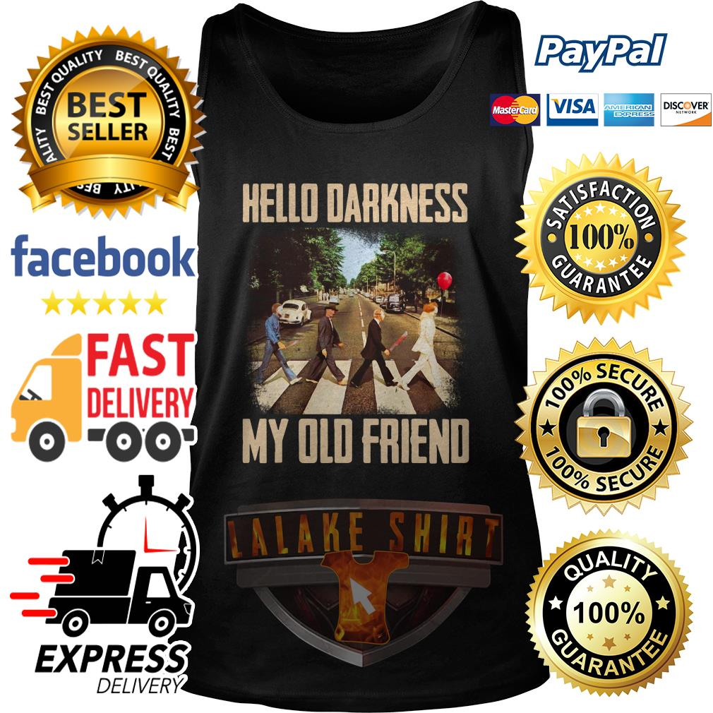Horror character movie abbey road hello darkness my old friend tank top