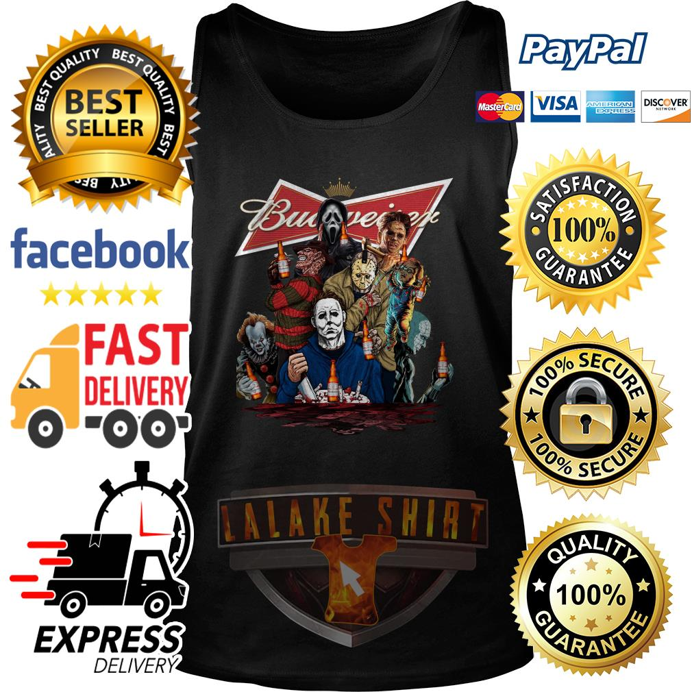 Horror character movie drink Budweiser tank top