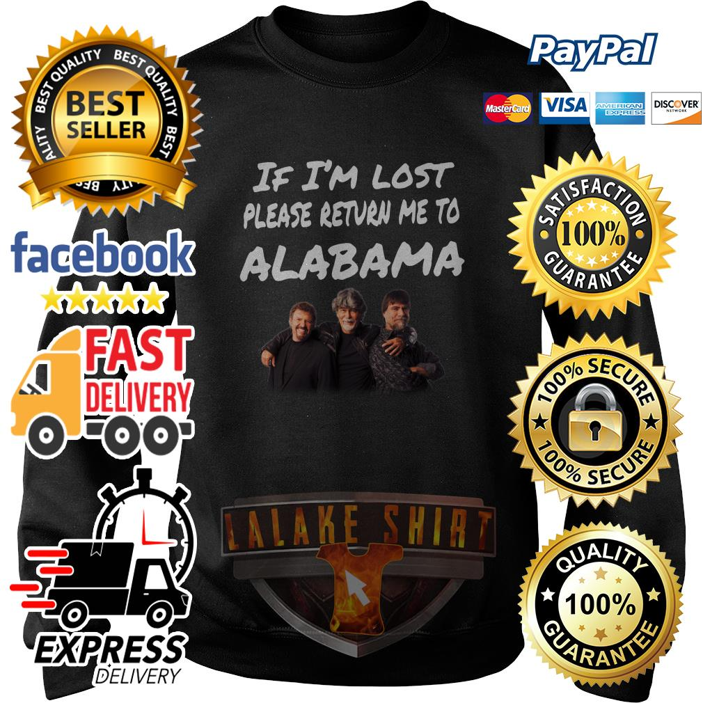 If I'm lost please return me to alabama sweater