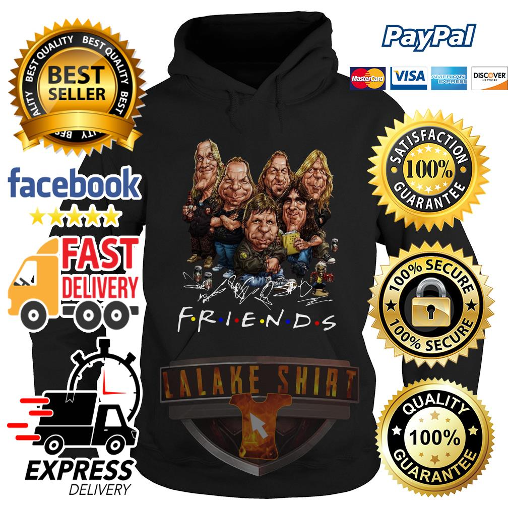 Iron Maiden cartoon friends tv show signature hoodie