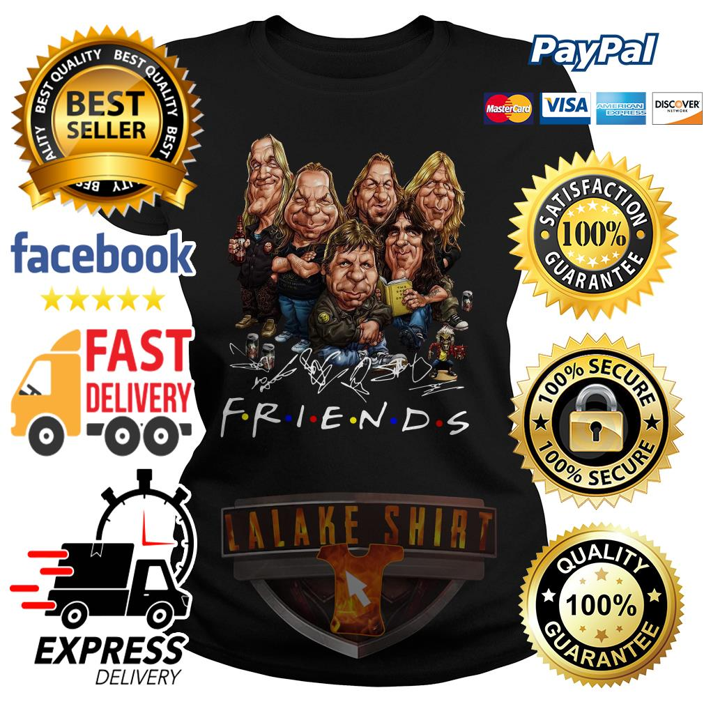 Iron Maiden cartoon friends tv show signature ladies tee