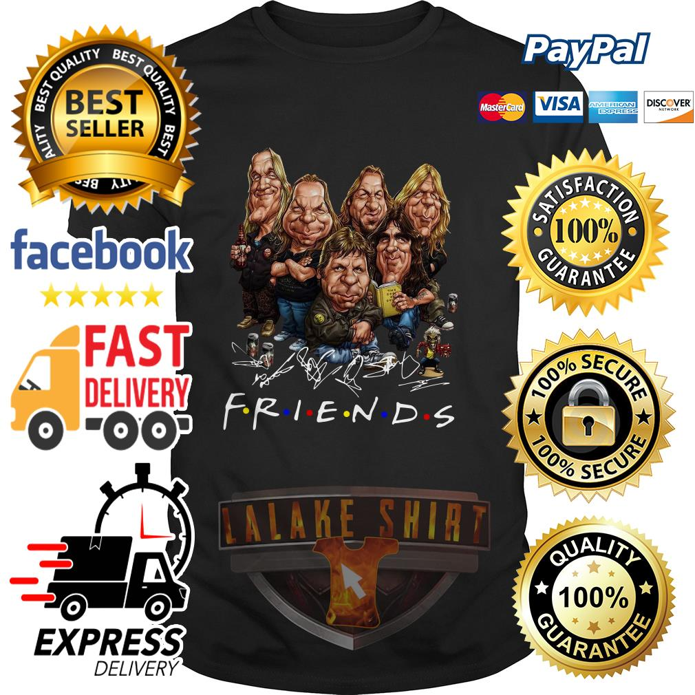 Iron Maiden cartoon friends tv show signature shirt