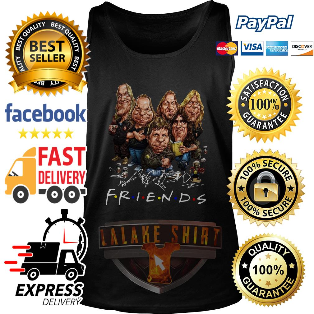 Iron Maiden cartoon friends tv show signature tank top