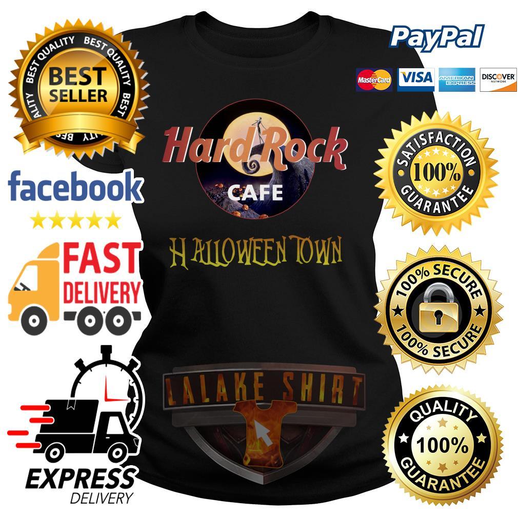 Jack Skellington Hard Rock cafe Halloween Town ladies tee