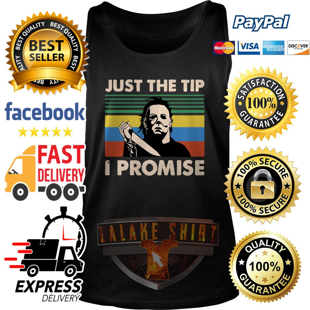 Jason Voorhees just the tip I promise vintage tank top