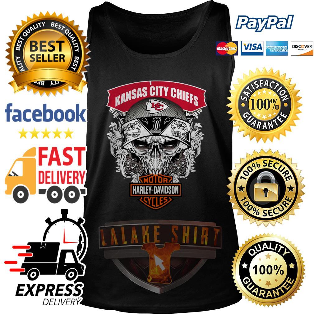 Kansas City Chiefs Motor Harley Davidson Cycles tank top