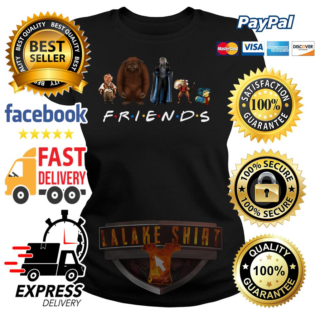 Labyrinth characters Friends tv show ladies tee