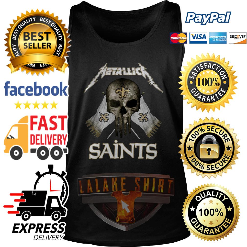 Metallica New Orleans Saints Skull Flag tank top