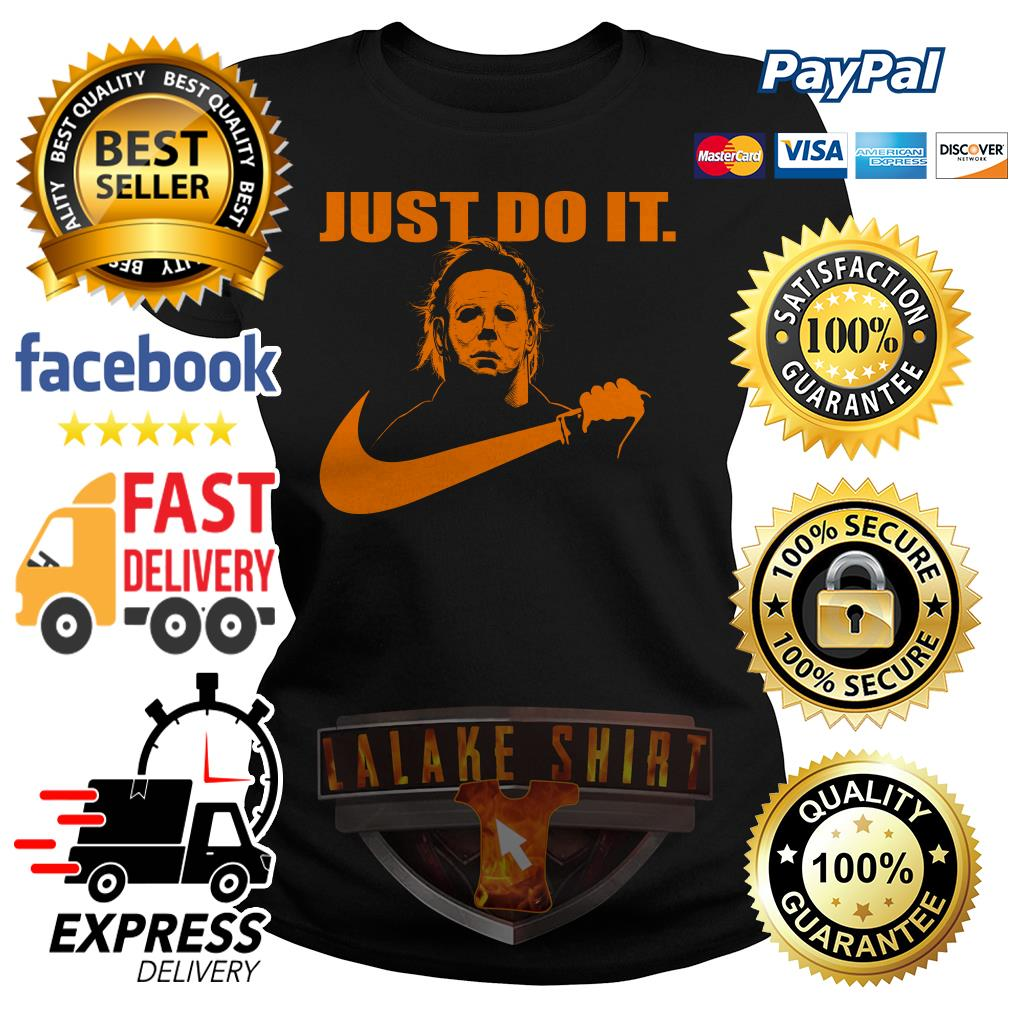Michael Myers Just do it Nike Halloween ladies tee