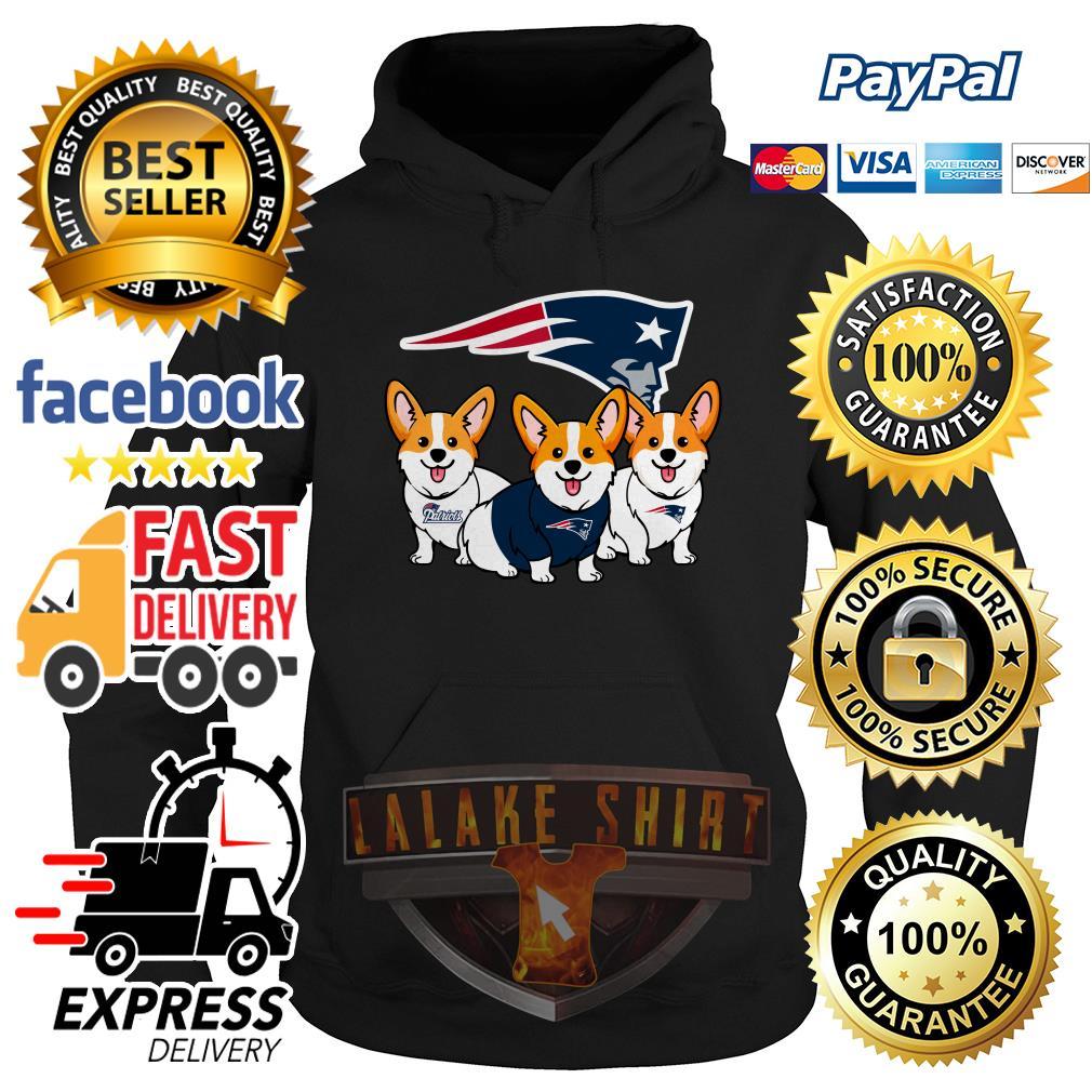 New England Patriots Corgi dog hoodie