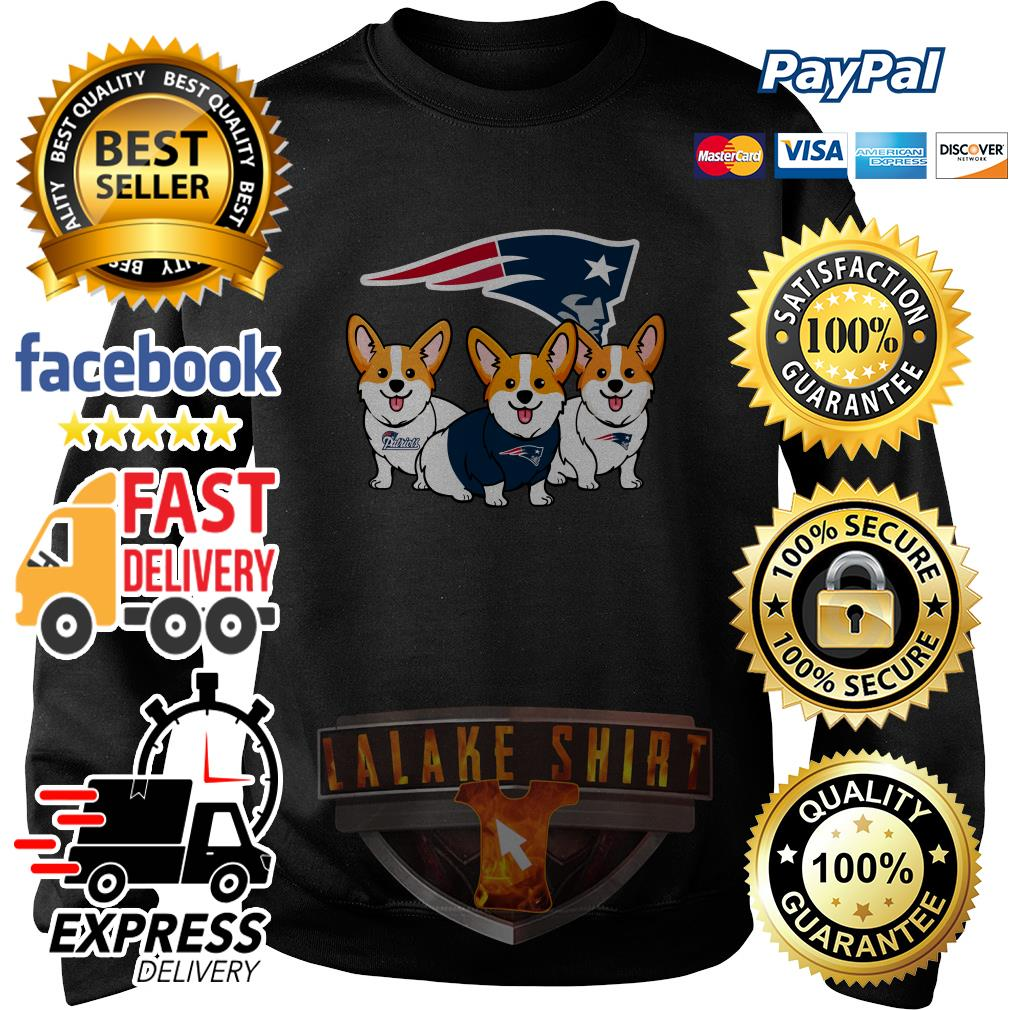 New England Patriots Corgi dog sweater