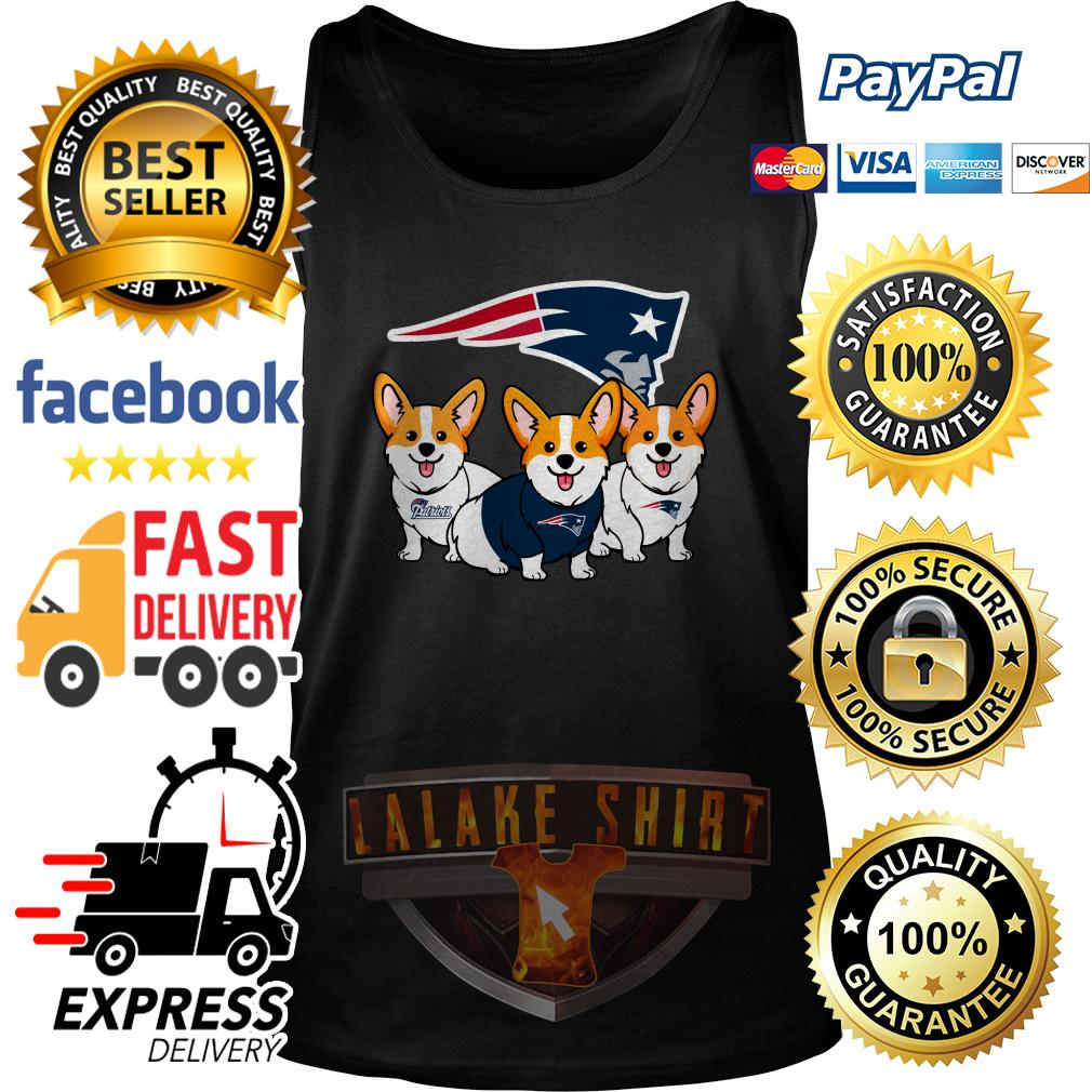 New England Patriots Corgi dog tank top