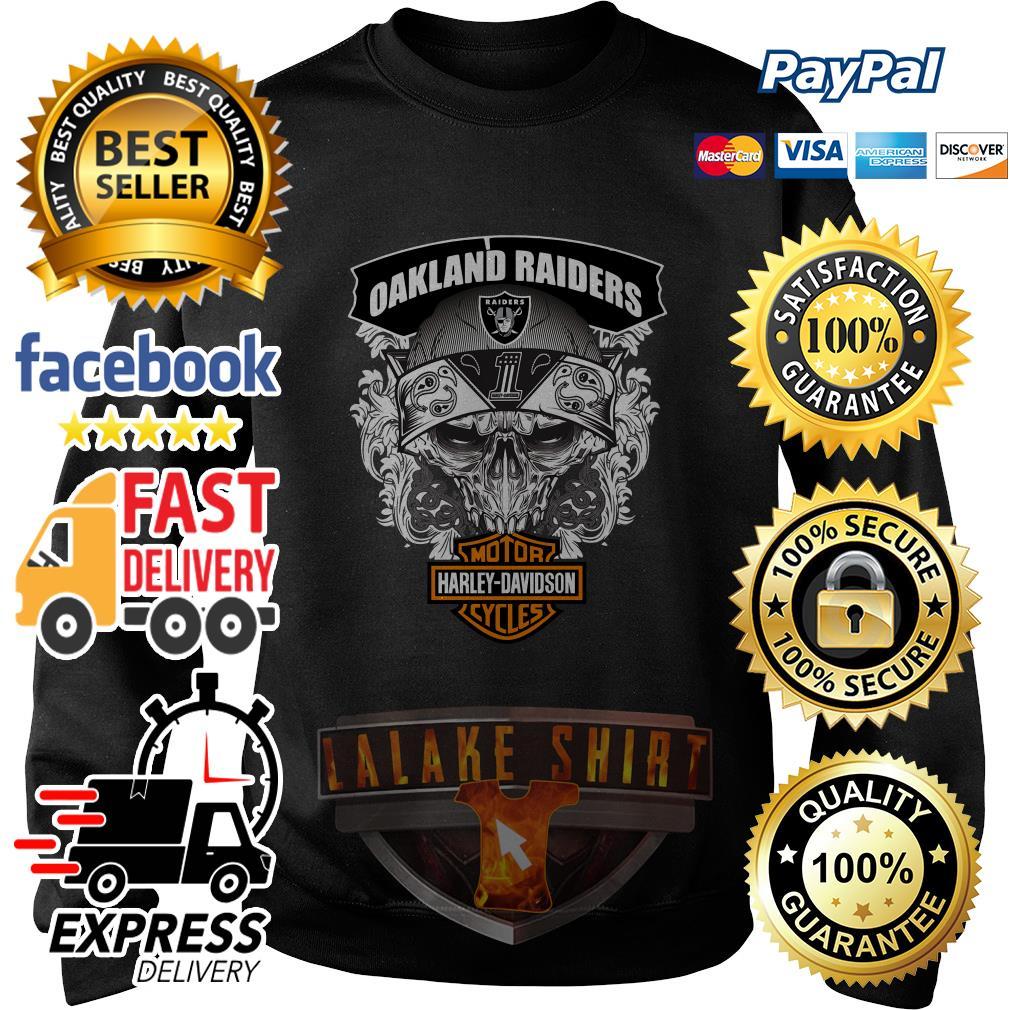 Oakland Raiders Motor Harley Davidson cycles sweater