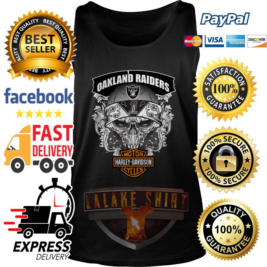 Oakland Raiders Motor Harley Davidson cycles tank top