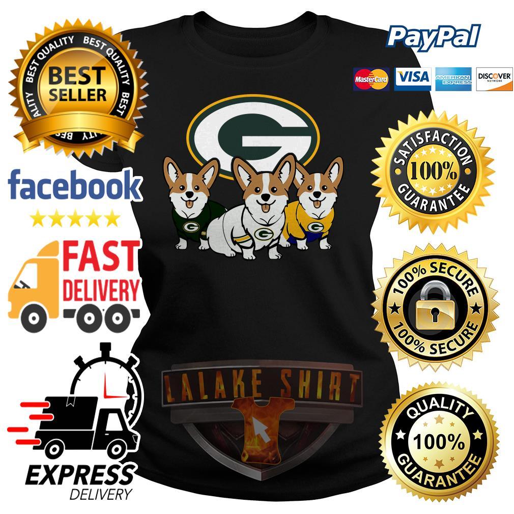 Pembroke Welsh Corgi Green Bay Packers ladies tee