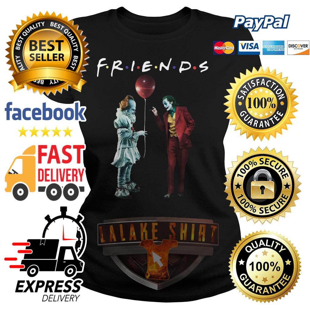 Pennywise with Joker friends tv show ladies tee