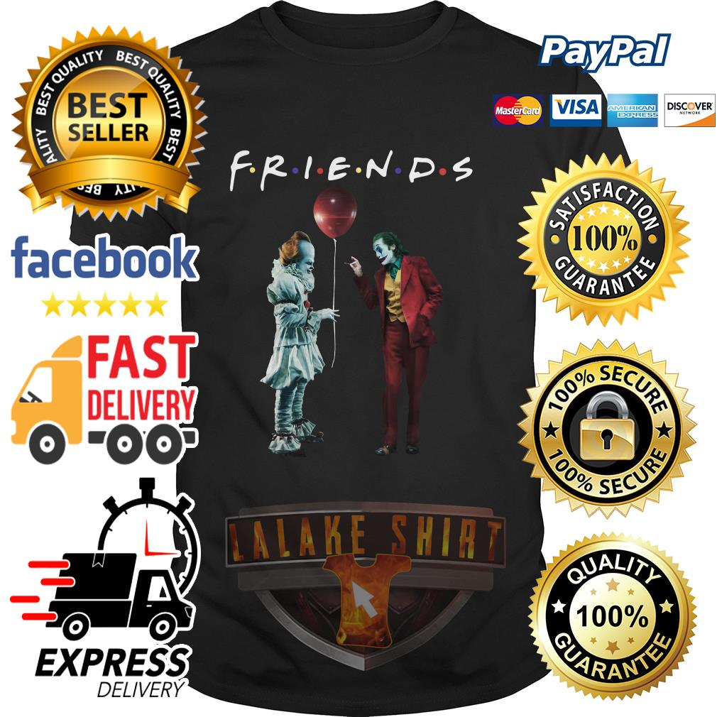 Pennywise with Joker friends tv show shirt
