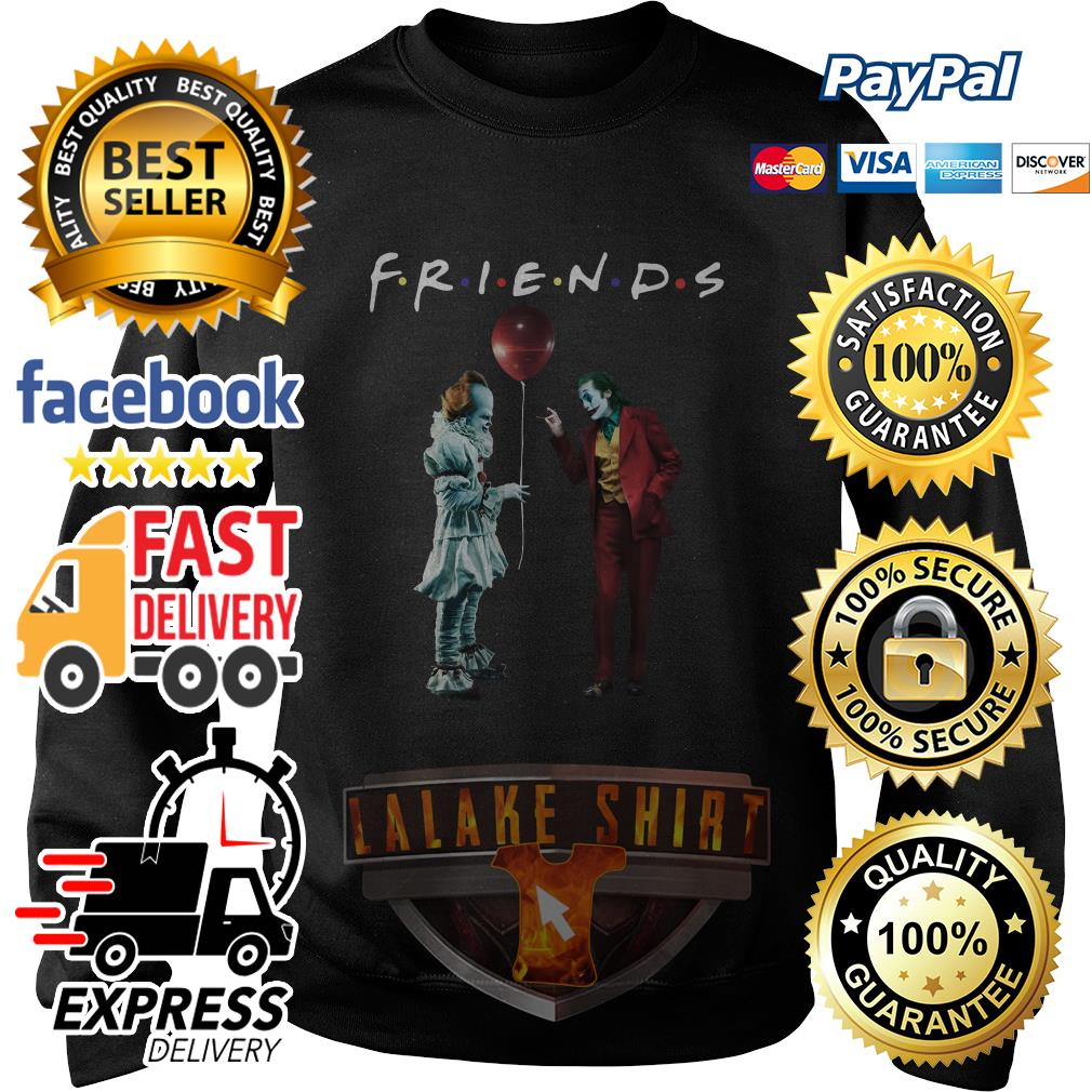Pennywise with Joker friends tv show sweater
