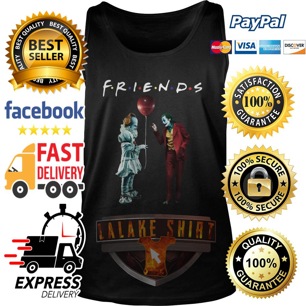 Pennywise with Joker friends tv show tank top