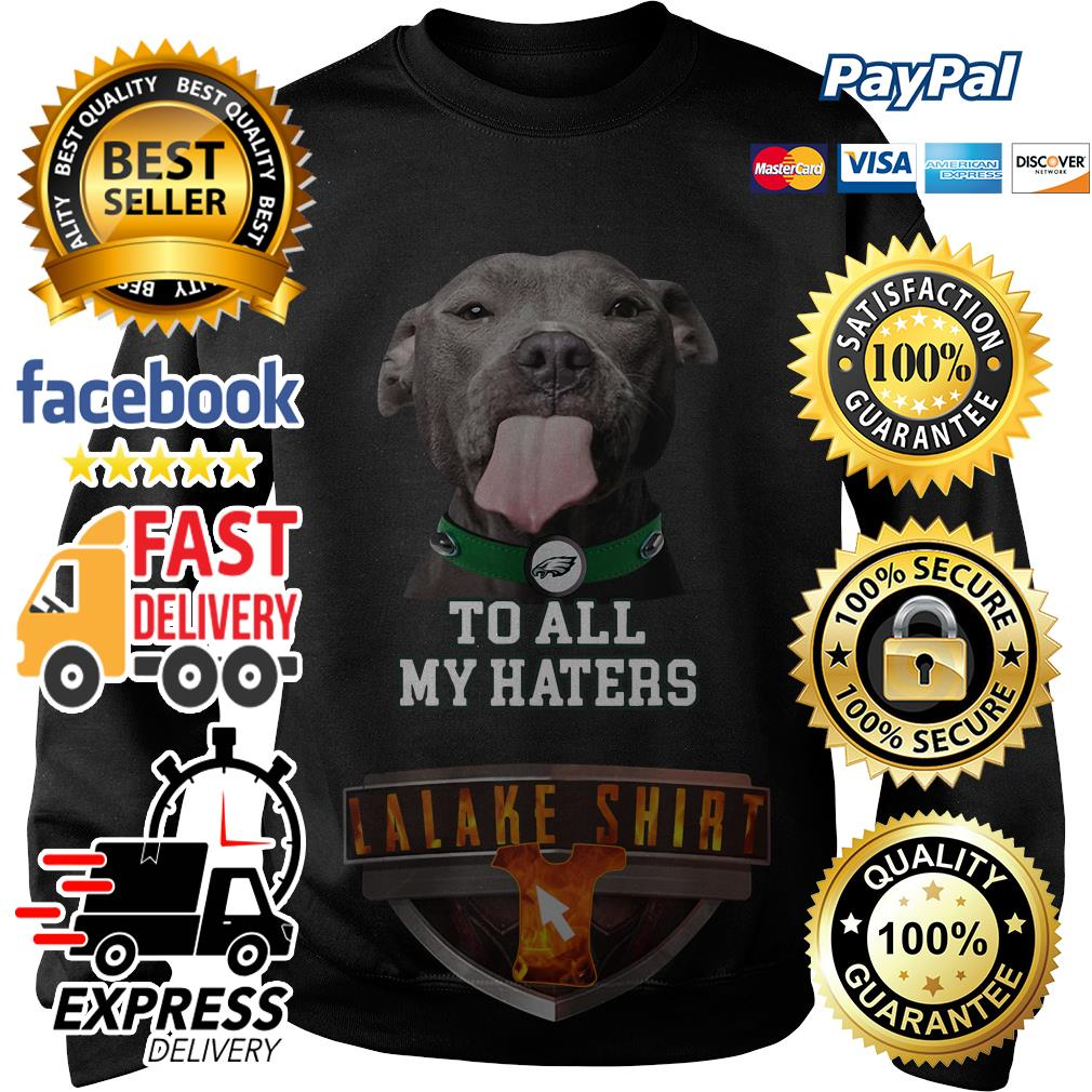 Pitbull Philadelphia Eagles to all my haters sweater